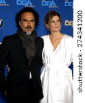 Small photo of Alejandro G. Inarritu and Maria Eladia Hagerman at the 67th Annual Directors Guild Of America Awards held at the Hyatt Regency Century Plaza in Century City on February 7, 2015.