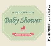 baby shower background with... | Shutterstock . vector #274346528