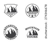 set of  mountain explorer... | Shutterstock . vector #274346678