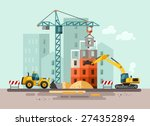 Construction Site  Building A...