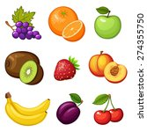 fresh fruits. fruit icon. vegan ... | Shutterstock .eps vector #274355750