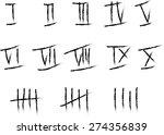handwritten roman numerals set... | Shutterstock .eps vector #274356839