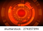 abstract technology circles and ...