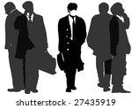 group of businessmen | Shutterstock . vector #27435919