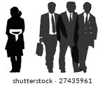 group of businessmen and... | Shutterstock . vector #27435961