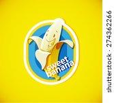 vector banana label | Shutterstock .eps vector #274362266