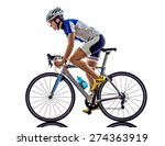 woman triathlon ironman athlete ... | Shutterstock . vector #274363919