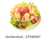 A Decorative Cut Cantaloupe...