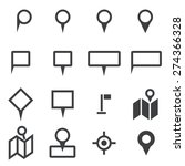 map icons | Shutterstock .eps vector #274366328