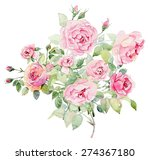 watercolor illustration with... | Shutterstock . vector #274367180