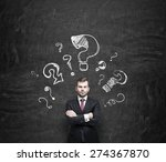 handsome young businessman is... | Shutterstock . vector #274367870