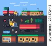profession trucker. stopping... | Shutterstock .eps vector #274372448
