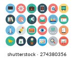 flat seo and marketing icons  ... | Shutterstock .eps vector #274380356