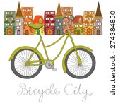 bicycle city vector illustration | Shutterstock .eps vector #274384850