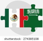 vector image   mexico and saudi ... | Shutterstock .eps vector #274385108