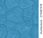 turtle shell pattern. vector...   Shutterstock .eps vector #274387478