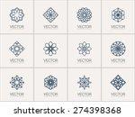 lineart ornamental logo... | Shutterstock .eps vector #274398368
