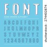 font alphabet  vector... | Shutterstock .eps vector #274402874