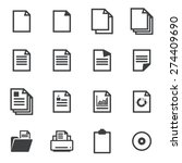 paper icons | Shutterstock .eps vector #274409690
