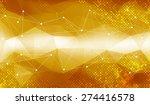 gold geometric background   Shutterstock .eps vector #274416578