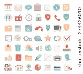 flat icons   universal web | Shutterstock .eps vector #274426010