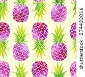 Pineapples Seamless Pattern....