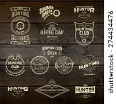hunting badges logos and labels ... | Shutterstock .eps vector #274434476