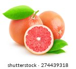 isolated grapefruit. pink... | Shutterstock . vector #274439318