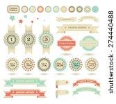 set of sale stamps  winning... | Shutterstock .eps vector #274440488
