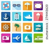 icons vacation  tourism  sea ... | Shutterstock .eps vector #274443620