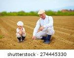 Farmers  Family On Their Land ...