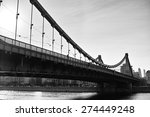 The Crimean Bridge In Bw