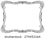 art nouveau black ornamental... | Shutterstock .eps vector #274452164