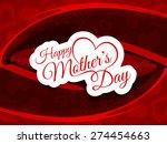 beautiful mother's day vector...   Shutterstock .eps vector #274454663
