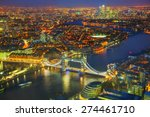 Aerial Overview Of London City...