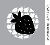 illustration of strawberries  ... | Shutterstock .eps vector #274461974
