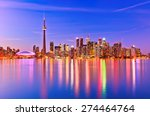the reflection of toronto... | Shutterstock . vector #274464764