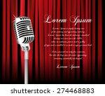 vintage metal microphone...   Shutterstock .eps vector #274468883