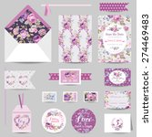 set of wedding stationary  ... | Shutterstock .eps vector #274469483