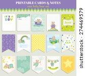cute bear card set for birthday ... | Shutterstock .eps vector #274469579