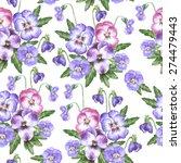 vector seamless watercolor... | Shutterstock .eps vector #274479443