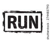 black vector grunge stamp run | Shutterstock .eps vector #274483793