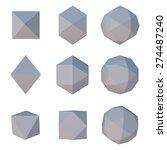 polygonal paper geometric... | Shutterstock . vector #274487240