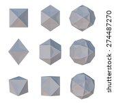 polygonal paper geometric...   Shutterstock . vector #274487270