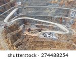 bottom of surface mining and... | Shutterstock . vector #274488254