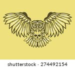 owl with skull decoration... | Shutterstock .eps vector #274492154