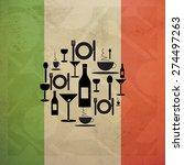 italian gastronomy food and... | Shutterstock . vector #274497263