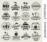 summer logotypes set. summer... | Shutterstock .eps vector #274497314