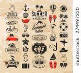summer logotypes set. summer... | Shutterstock .eps vector #274497320