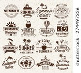 summer typography designs.... | Shutterstock .eps vector #274497326